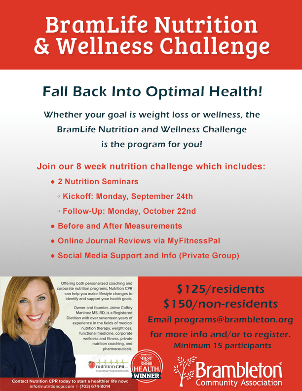 BramLife Nutrition and Wellness Challenge