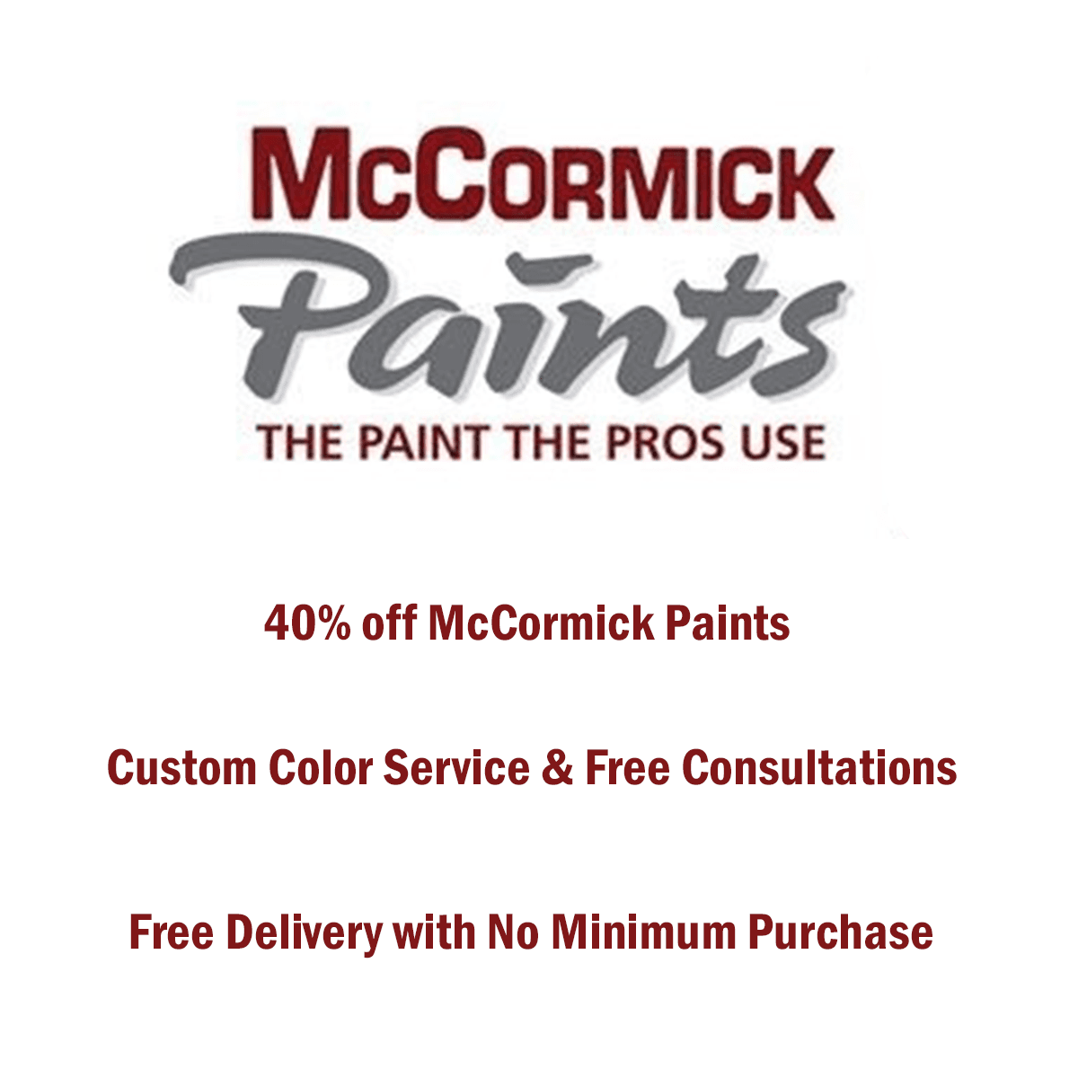 McCormick Paints website